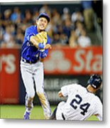 Munenori Kawasaki and Chris Young Metal Print