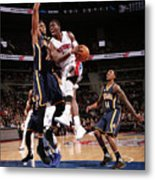 Myles Turner and Reggie Jackson Metal Print