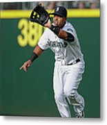 Nelson Cruz and Mark Canha Metal Print