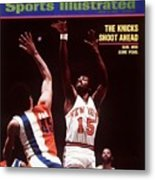 New York Knicks Earl Monroe, 1973 Nba Eastern Conference Sports Illustrated Cover Metal Print
