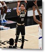 New York Knicks v Atlanta Hawks - Game Four Metal Print