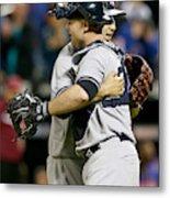 New York Yankees V New York Mets Metal Print