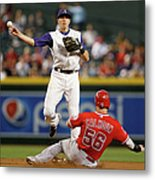 Nick Ahmed and Kole Calhoun Metal Print