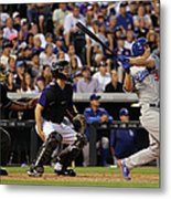 Nick Hundley and Joc Pederson Metal Print