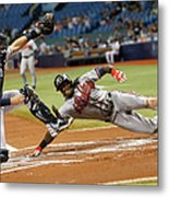 Nick Markakis and Cameron Maybin Metal Print