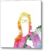 No013 MY John lennon Watercolor Music poster Metal Print