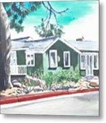 Ocean Front House Metal Print