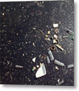 Oil spill in water Metal Print