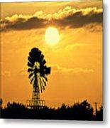 Old Windmill At Sunset Metal Print