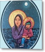 Our Lady of the Journey Metal Print