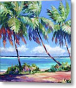 Palms at the Island's End Metal Print