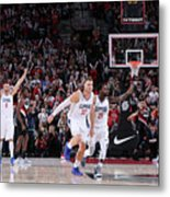 Patrick Beverley and Blake Griffin Metal Print