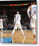 Paul George, Carmelo Anthony, and Russell Westbrook Metal Print