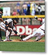 Paul Goldschmidt And Brandon Crawford Metal Print