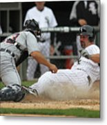 Paul Konerko and Alex Avila Metal Print