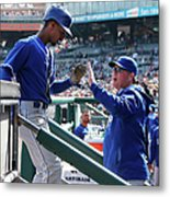 Pedro Ciriaco and Ned Yost Metal Print