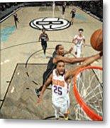 Phoenix Suns v Brooklyn Nets Metal Print