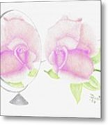 Pink Reflection Metal Print