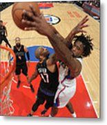 P.j. Tucker and Deandre Jordan Metal Print