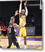 Portland Trail Blazers v LA Lakers Metal Print