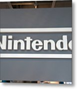 Product Displays Inside The Nintendo Game Front Showroom Metal Print
