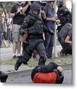 Protesters March During The G20 Summit Metal Print