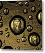 Raining Dollars Metal Print