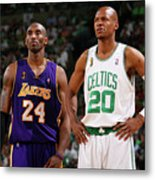 Ray Allen and Kobe Bryant Metal Print