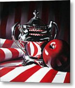 Red White And Apple Metal Print