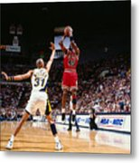 Reggie Miller and Michael Jordan Metal Print