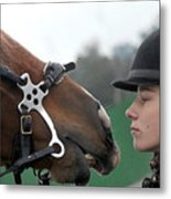 Riding school in Minsk Region, Belarus Metal Print