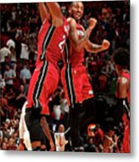 Rodney Mcgruder and Hassan Whiteside Metal Print
