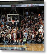 Rudy Gay and Lebron James Metal Print