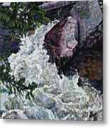 Rushing Stream Colorado Metal Print