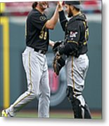 Russell Martin And Jason Grilli Metal Print