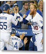 Russell Martin And Justin Turner Metal Print