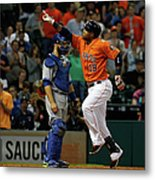 Russell Martin and Luis Valbuena Metal Print