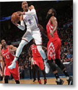 Russell Westbrook and James Harden Metal Print
