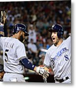 Ryan Braun and Jonathan Villar Metal Print