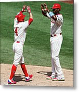 Ryan Howard and Andres Blanco Metal Print