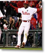 Ryan Howard and Jimmy Rollins Metal Print