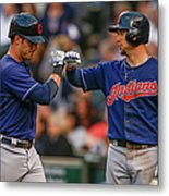 Ryan Raburn And Yan Gomes Metal Print