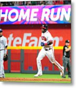 San Diego Padres v Atlanta Braves Metal Print