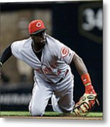 Scooter Gennett and Brandon Phillips Metal Print