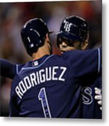 Sean Rodriguez and Carlos Pena Metal Print