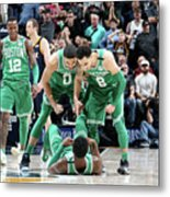 Shane Larkin, Jaylen Brown, and Jayson Tatum Metal Print