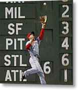 Shane Victorino and Chris Heisey Metal Print
