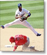 Shane Victorino and Jimmy Rollins Metal Print