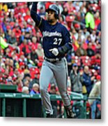 Shelby Miller and Carlos Gomez Metal Print