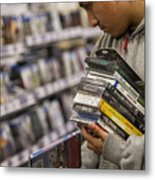 Shoppers Inside A Best Buy Co. Store Ahead Of Black Friday Sales Metal Print
